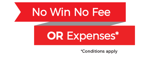 No win no fee OR expenses logo